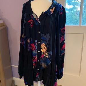 Free People multicolor abstract tunic dress. Small